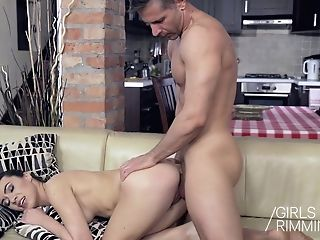 Girlsrimming - A Prick For Breakfast Buttfuck Rimming