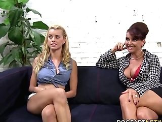 Janet Mason And Her Daughter-in-law Jessie Rogers Attempts Big Black Cock