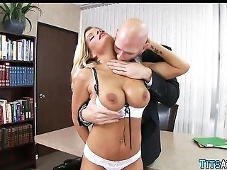 Blonde Cougar Needs Man-meat At The Office