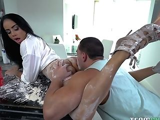 Playful Housewife Victoria June Chooses Dirty And Messy Orgy With Her Beau