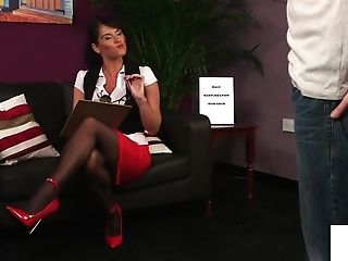 Big-boobed Brit Loves Providing Joi In Her Office