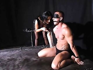 Deviant Boy Got Eyes Covered And Let Ania Kiski Have Fun With His Dick, All Night Lengthy