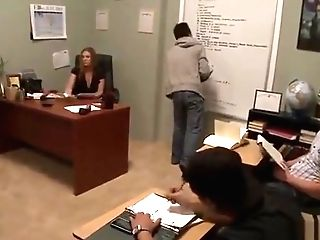 Stunning Mummy Gets Fucked In The Office