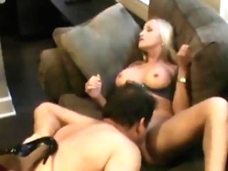 Blonde Bombshell On Bodacious Boner