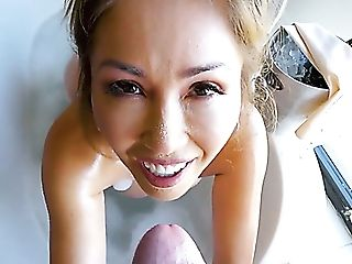 Asian-canadian Beauty Kianna Dior Gets Enormously Absorbed With Bj