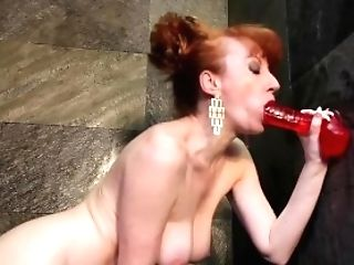 Crimson Gets Down And Dirty And Fucks Her Fuckhole In The Douche