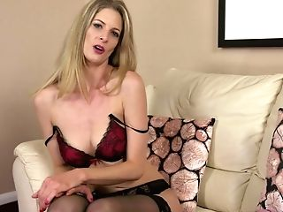 Tall Long-legged Blonde Leah Gets Naked And Tells Erotic Stories
