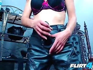 Sexy Petite Mistress Abases Submissive With Strap On