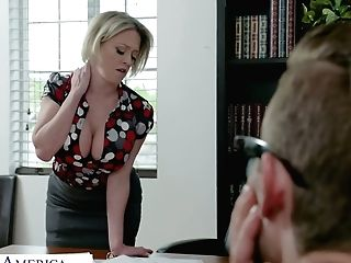 Fabulous Curvy Dee Williams Gets Leaned Over The Table And Fucked Decently
