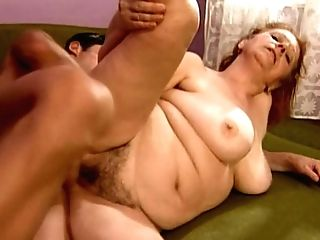 Voracious Dude Drills A Stinky Gash Of Crimson-haired Mom Stella