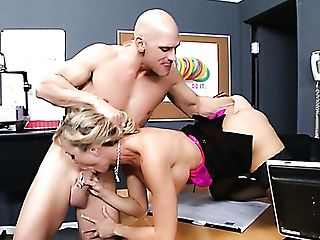 Brutal Manager Johnny Sins Fucks Brandi Love On The Table