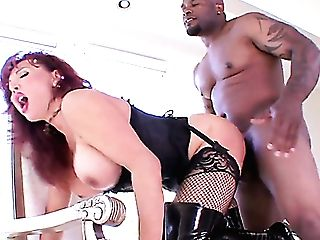 Dirty Harlot Wearing Boots Vanessa Is Fucked Hard By Horny Big Black Cock