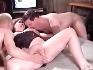 Buxomy Matures Stunner Is Fucked By Two Horny