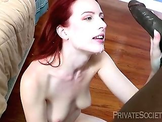 Crimson Haired Damsel, Alex Crawford Is Fucking A Stunning, Black Boy She Has Just Met