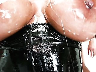 Utterly Oiled Buxomy Mummy Bridgette B Is Ready For Terrific Oral Gang-fuck