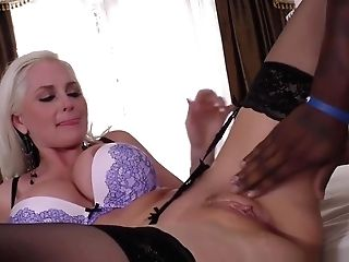 Chesty Blonde Alena Croft Gets Pounded By Big Black Cock