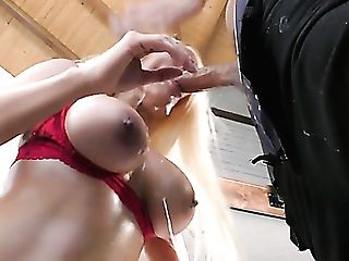 Appetizing Big Jugged Cowgirl Luna Starlet Takes Strong Sausage Into Rosy Pucker